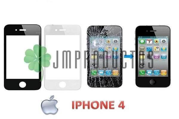 cbb938feea6 Cristal De Pantalla Para Iphone 4 , Blanco Y Negro - JM Productos