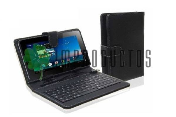 Funda estuche con teclado para tablet 7 pulgadas carcasa jm productos - Funda tablet con teclado 7 ...