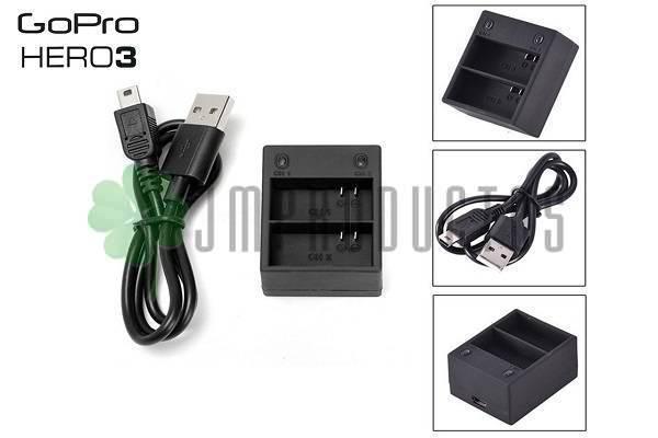 24d9a0a16ed ... Cargador De Bateria Gopro Hero 3 3+ Plus Doble Ahdbt-301 302 Volver.  Oferta. lightbox