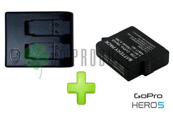 f5fa7695e50 Batería Cámara Go Pro Hd Hero 5, Hero 6, Hero 7 + Cargador Doble ...